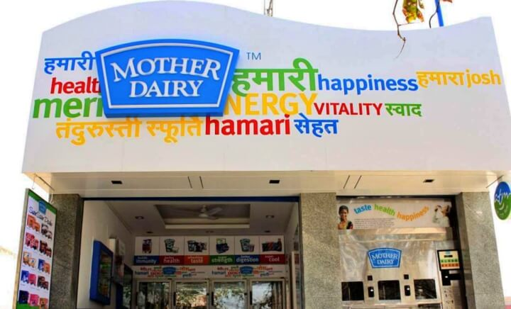 Mother Dairy Store in India