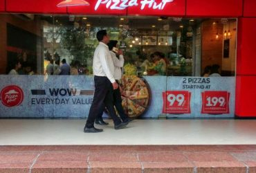 Pizza hut outlet at City Center Shopping Mall of Kolkata